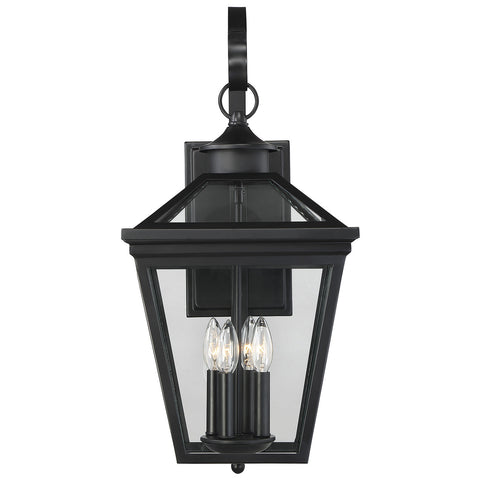 "Ellijay 12"" Steel Wall Lantern in Black"