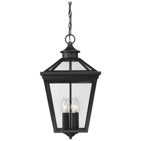 "Ellijay 12"" Steel Hanging Lantern in Black"