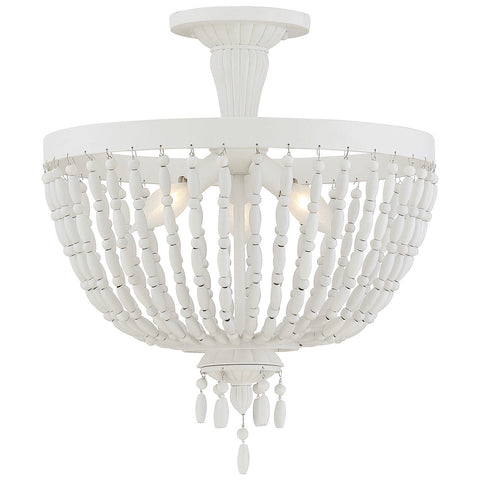 Geneva 3-Light Semi-Flush in Porcellan
