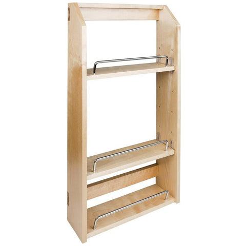 "12-1/2"" x 4"" x 24"" Adjustable Spice Rack for 18"" Wall Cabinet in UV Coated"