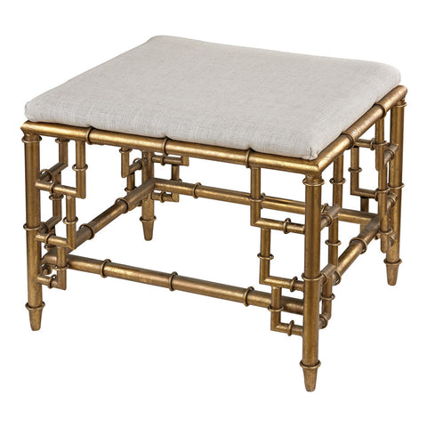 Bamboo Bench in Gold Leaf