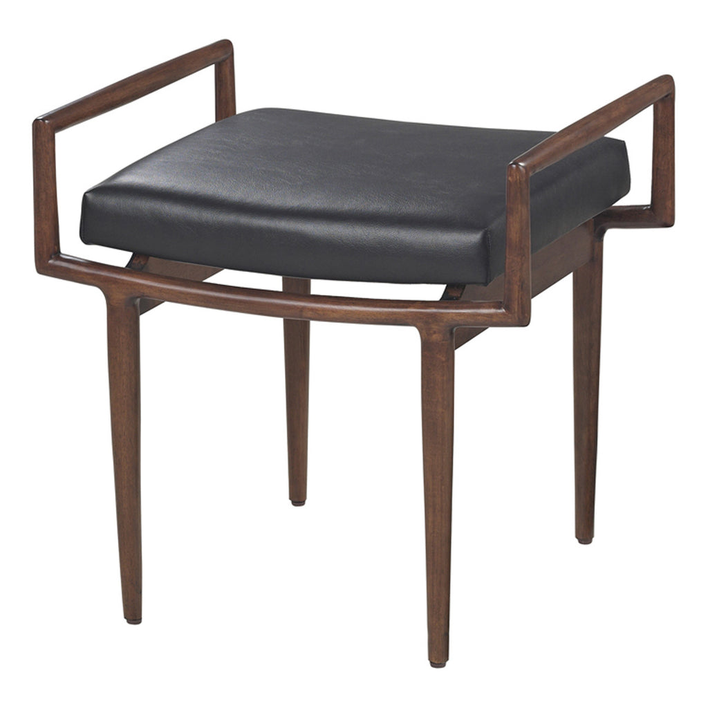Blackinton Ottoman in Dark Cherry and Black