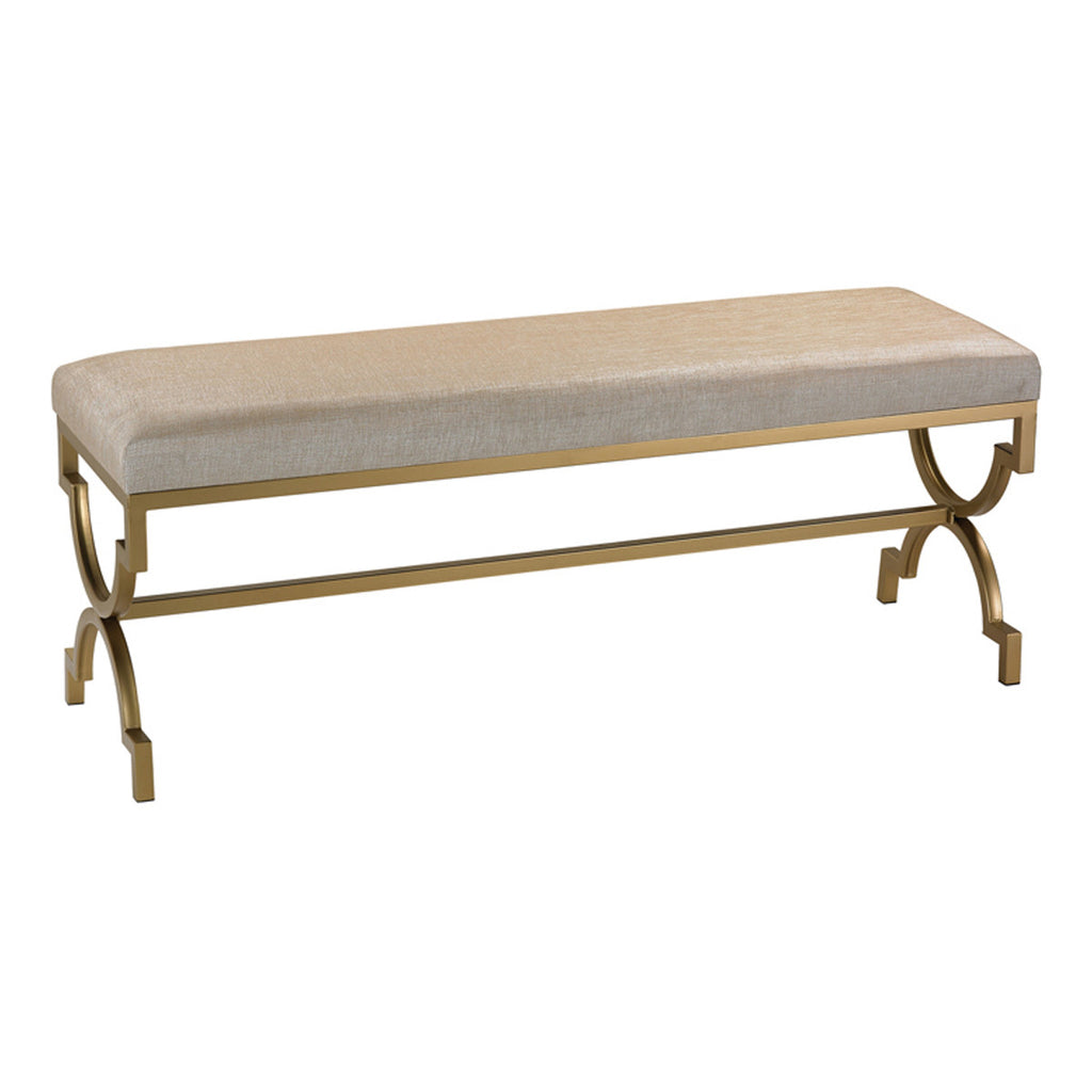 Double Bench in Cream Metallic Linen