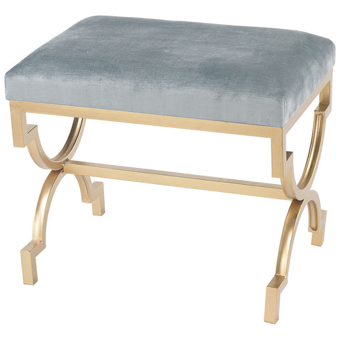 Comtesse Bench in Gold and Duck Egg Blue