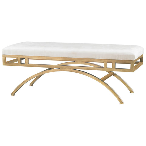 Miracle Mile Bench in Gold and Oyster