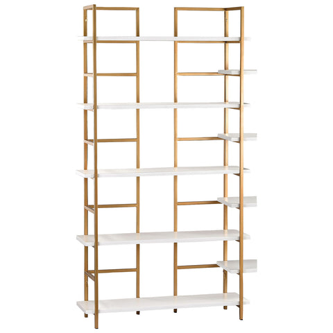 White and Gold Shelving Unit