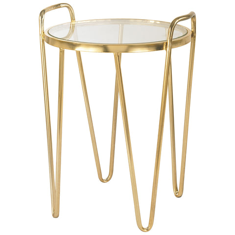 Via Rodeo Accent Table in Gold