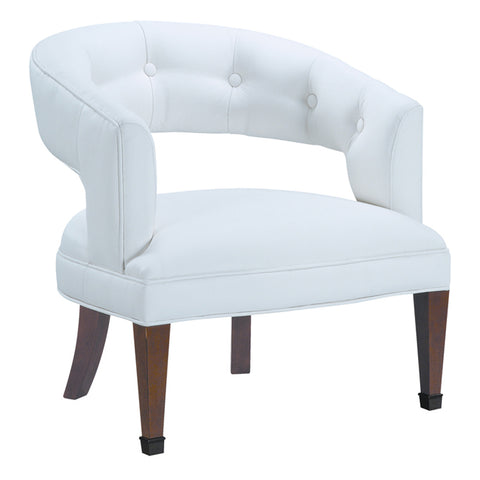 New Hudson Chair in White Faux Leather