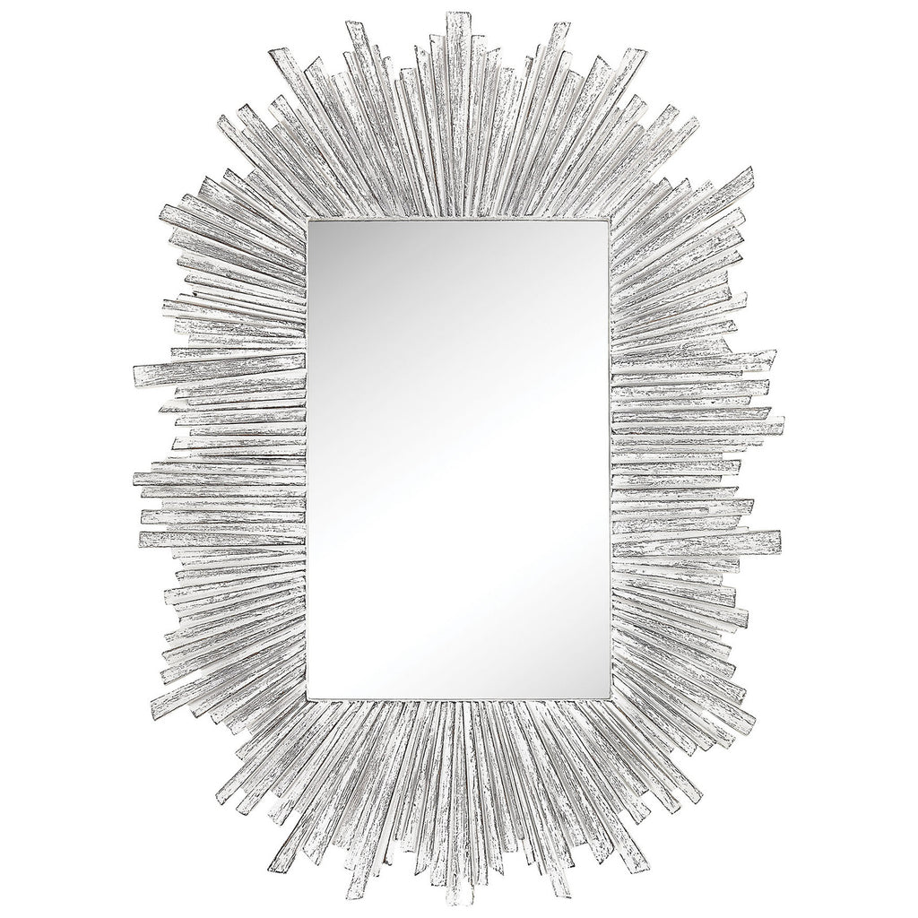 Arroyo Wall Mirror in Bleached White