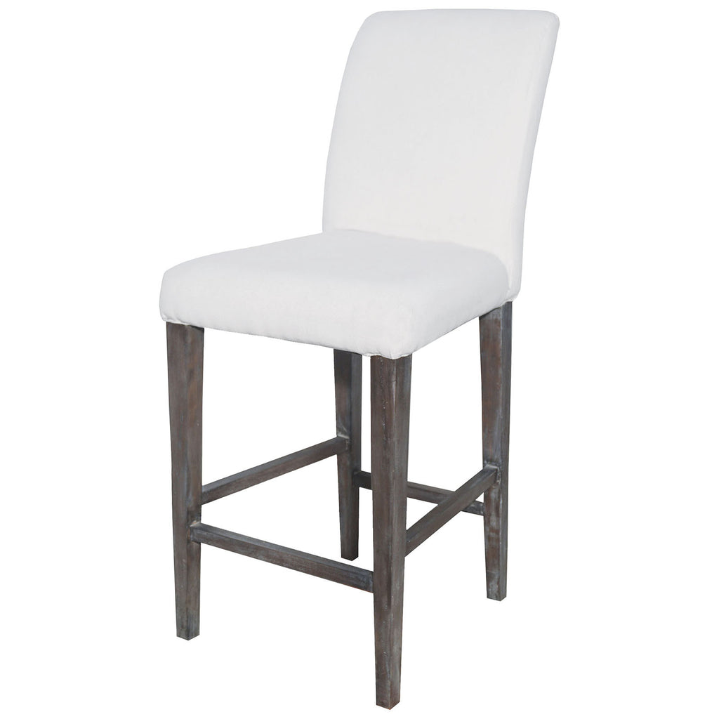 Couture Covers Parsons Bar Stool in Heritage Stain with White Wash