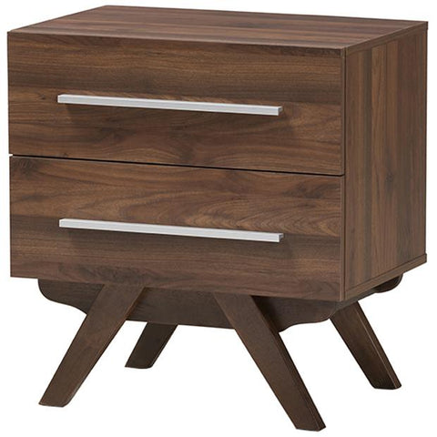 Baxton Studio Auburn 2-Drawer Nightstand