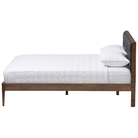 Baxton Studio Jupiter Platform Bed in Grey