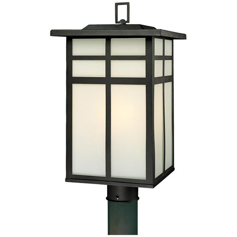 Mission 3-Light Post Lantern in Black