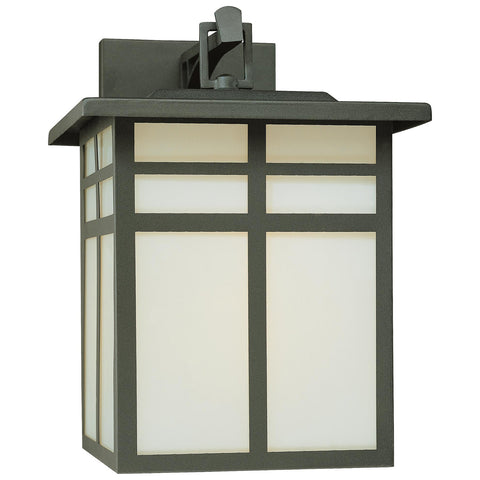 Mission 1-Light Wall Lamp in Black