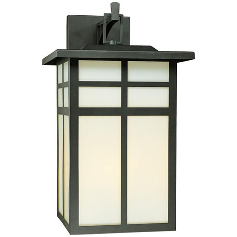 Mission 3-Light Wall Lamp in Black