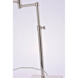 Brio Collection 1-Light Polished Nickel Table Lamp