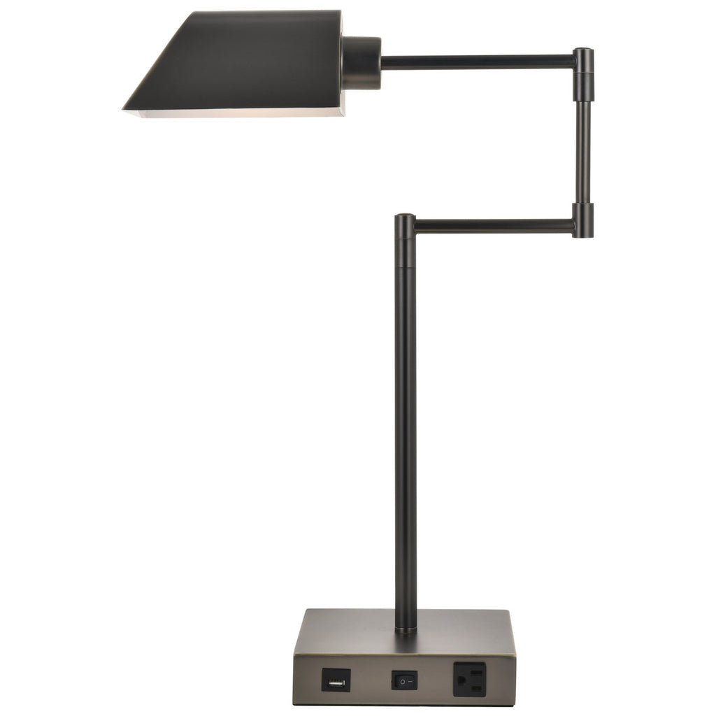 Brio Collection 1-Light Bronze Finish Table Lamp