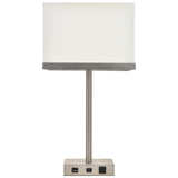 Brio Collection 1-Light Vintage Nickel Table Lamp