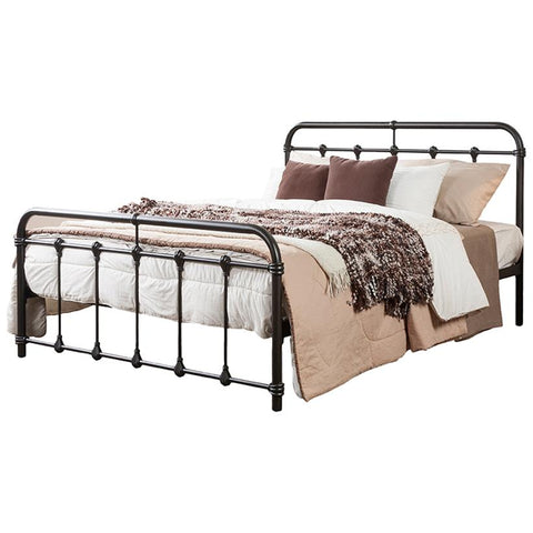 Mandy Vintage Industrial Black Metal Platform Bed