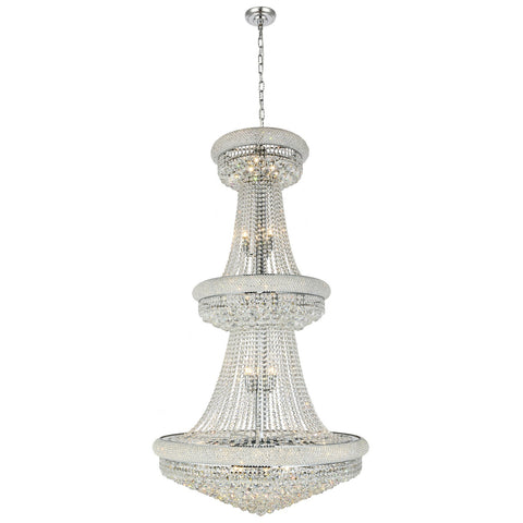Primo 32-Light 36-Inch Chandelier with Clear Crystal
