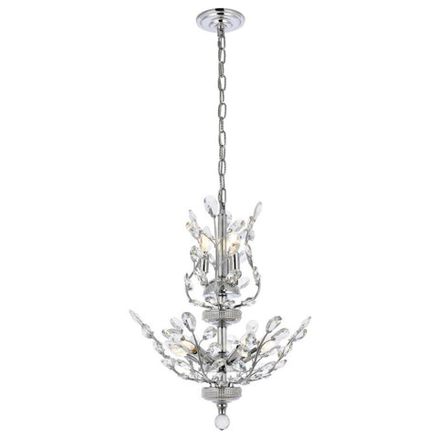 Orchid 8-Light Chandelier with Clear Crystal