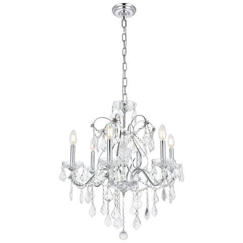 St. Francis 6-Light Chandelier with Clear Crystal