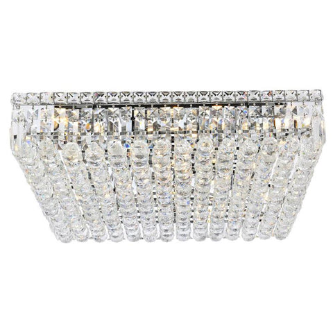 Maxime 13-Light 5.5-Inch Chrome Flush Mount