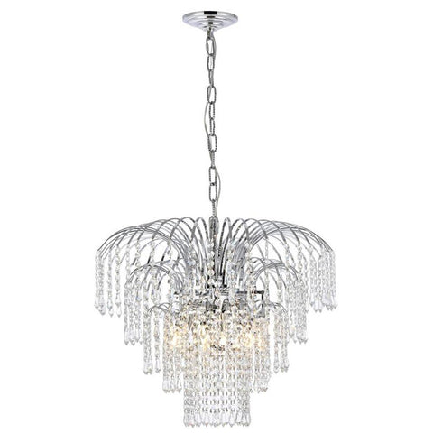 Falls 6-Light 21-Inch Chandelier with Clear Crystal