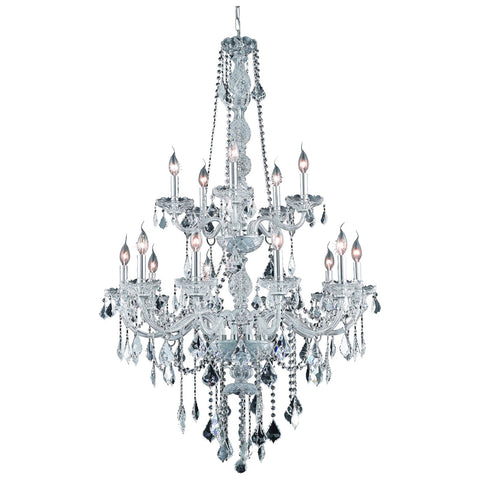 Verona 33-Inch 15-Light Chandelier with Crystal