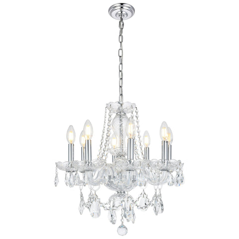 Princeton 8-Light Chandelier with Clear Royal Cut Crystal