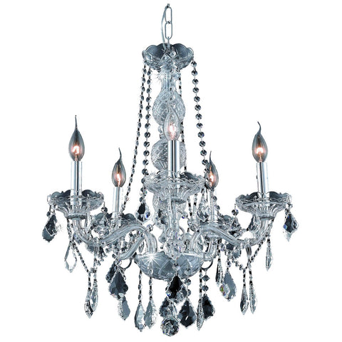 Verona 21-Inch 5-Light Chandelier with Crystal