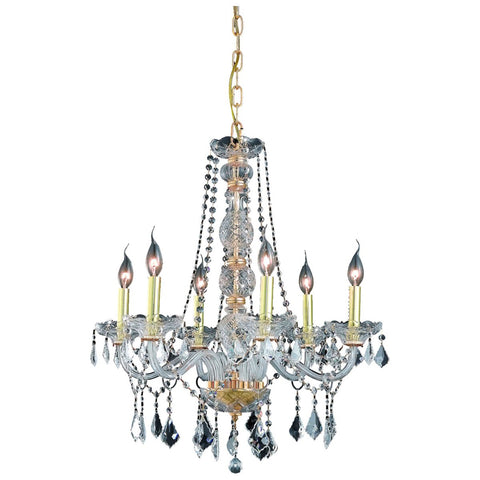 Verona 24-Inch 6-Light Chandelier with Crystal