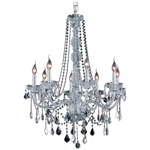 Verona 28-Inch 8-Light Chandelier with Crystal