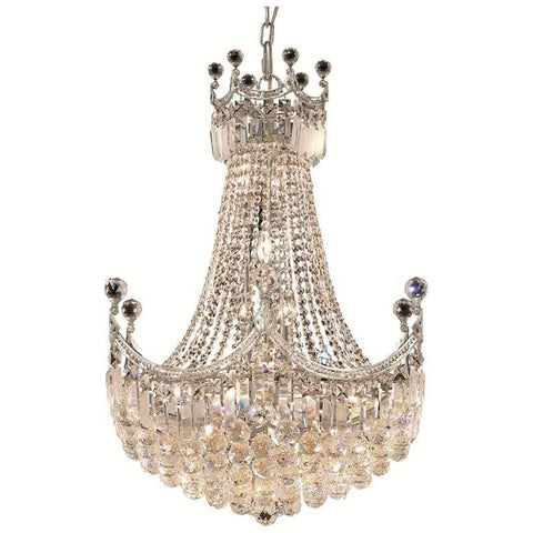 Corona 18-Light Chandelier with Clear Crystal