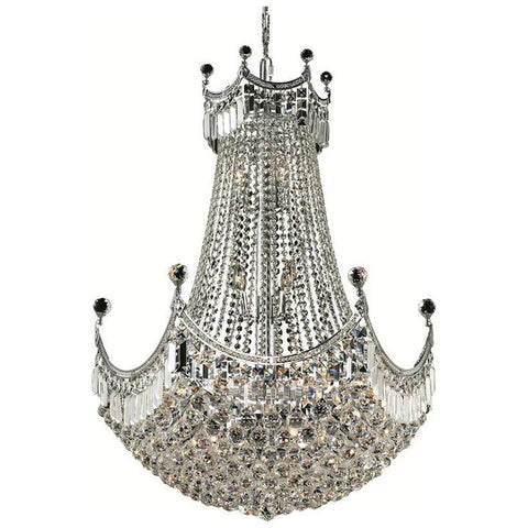 Corona 24-Light Chandelier with Clear Crystal