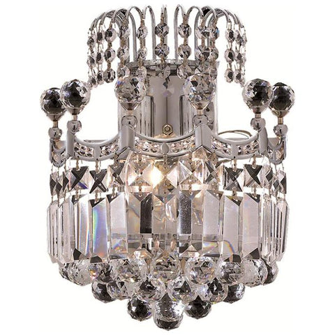 Corona 2-Light Wall Sconce in Clear Crystal