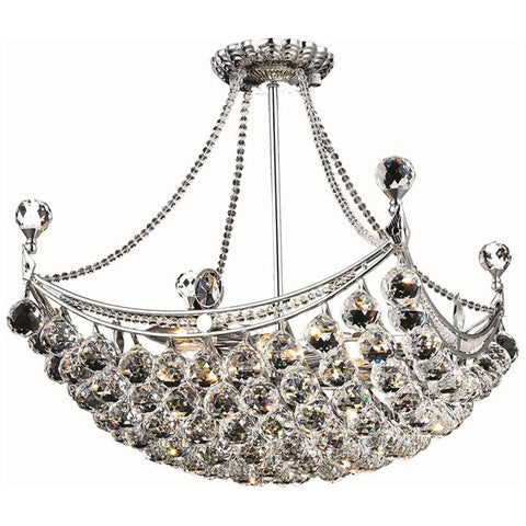 Corona 8-Light 20-Inch Chandelier with Clear Crystal