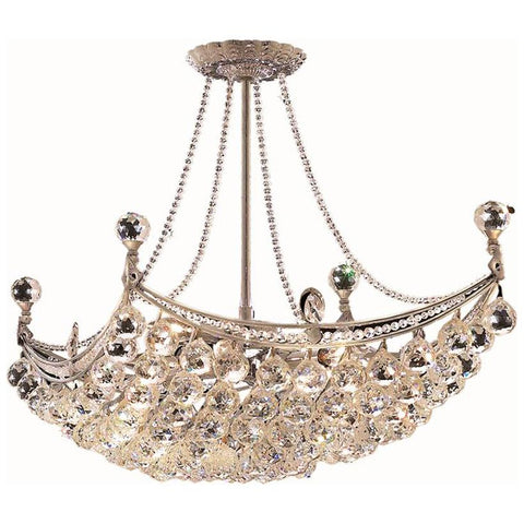 Corona 8-Light 28-Inch Chandelier with Clear Crystal