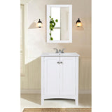 Mod 24-Inch Single Bathroom Vanity Set in White