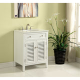 Cape Cod 24-Inch Single Bathroom Vanity Set in White