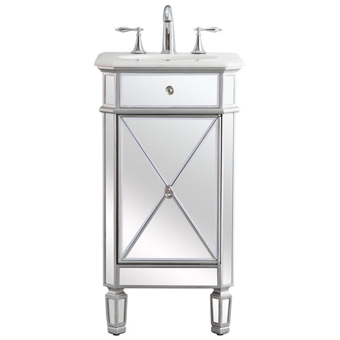 Camille 19-Inch Single Bathroom Vanity Set in Antique Silver