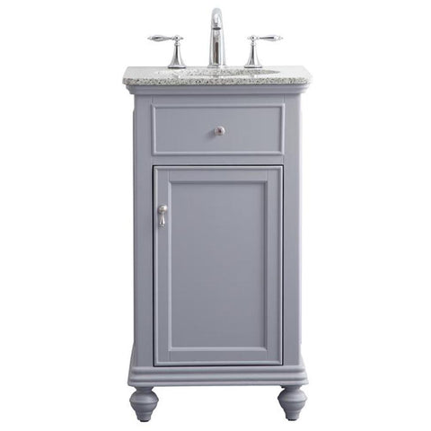 Otto 19-Inch Single Bathroom Vanity Set in Light Grey