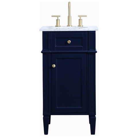 Williams 18-Inch Single Bathroom Vanity in Blue
