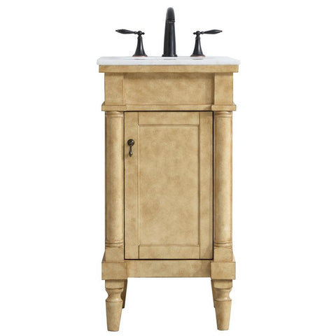 Lexington 18-Inch Single Bathroom Vanity Set in Antique Beige