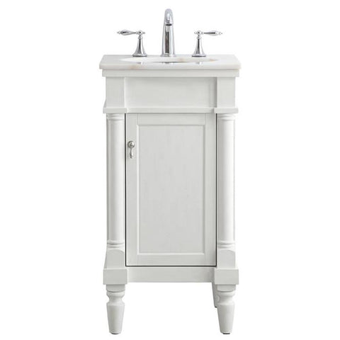 Lexington 18-Inch Single Bathroom Vanity Set in Antique White