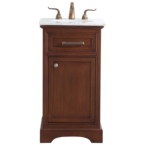 19-Inch Single Bathroom Vanity Set in Teak
