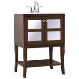 Mason Single Bathroom Mirrored Vanity Set