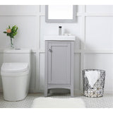 18-Inch Single Bathroom Vanity Set