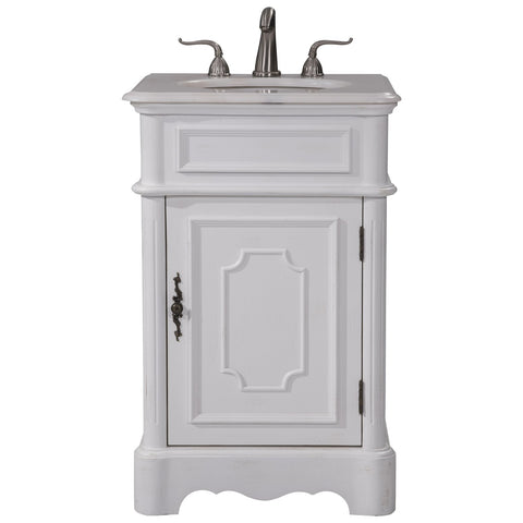 Retro 21-Inch Single Bathroom Vanity Set in Antique White