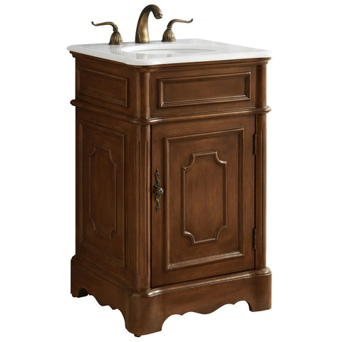 Retro 21-Inch Single Bathroom Vanity Set in Teak